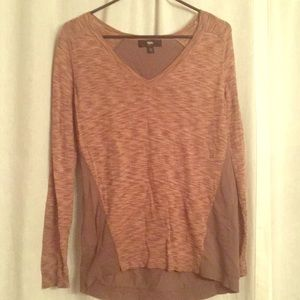 Mossimo two tone brown sweater shirt